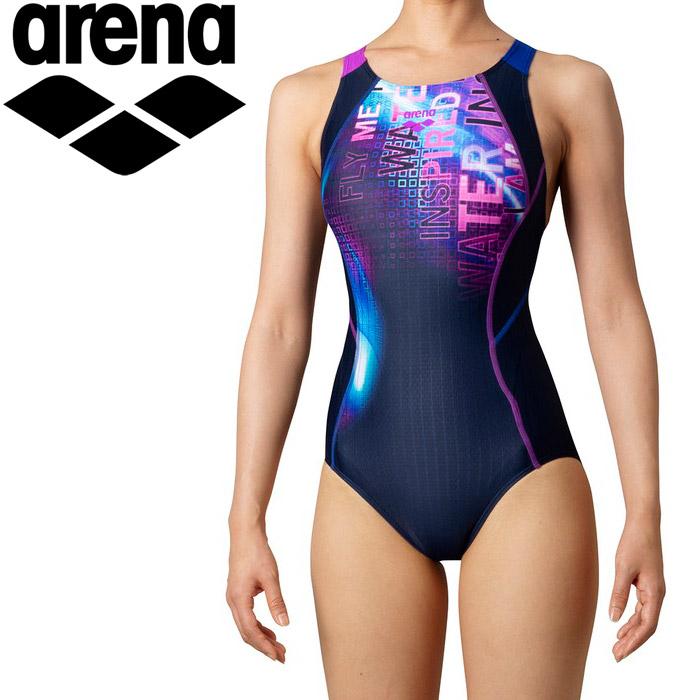 アリーナ 水泳 セイフリーバック(着やストラップ) レディス ARN-0068W-NVBU