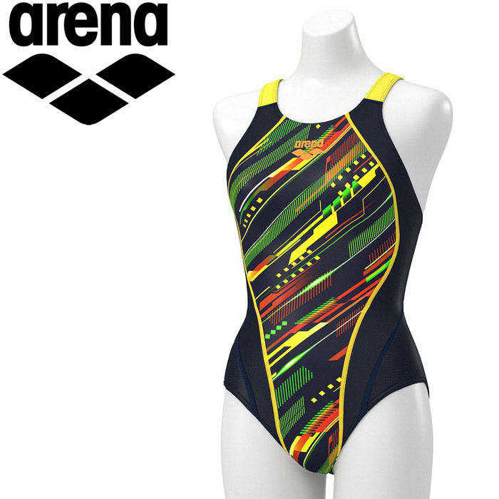アリーナ 水泳 セイフリーバック(着やストラップ) レディス ARN-0070W-NVYL