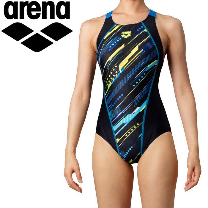 アリーナ 水泳 ジュニアスーパーストリーナ(着やストラップ) ジュニア ARN-0070WJ-BKBU