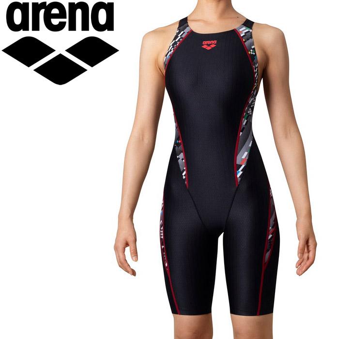 アリーナ 水泳 セイフリーバックスパッツ(着やストラップ) レディス ARN-0075W-BKBK