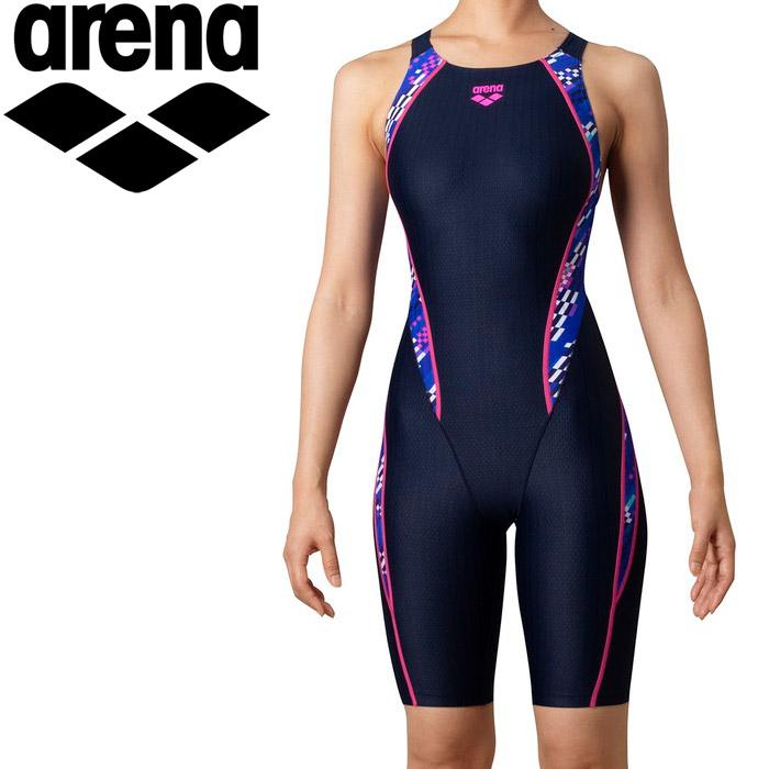 アリーナ 水泳 セイフリーバックスパッツ(着やストラップ) レディス ARN-0075W-NVBU