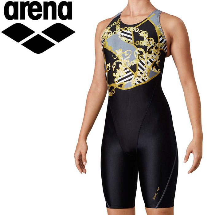 アリーナ 水泳 サークルバックスパッツ(ぴったりパッド)(着やストラップ) レディス LAR-0211W-BLK
