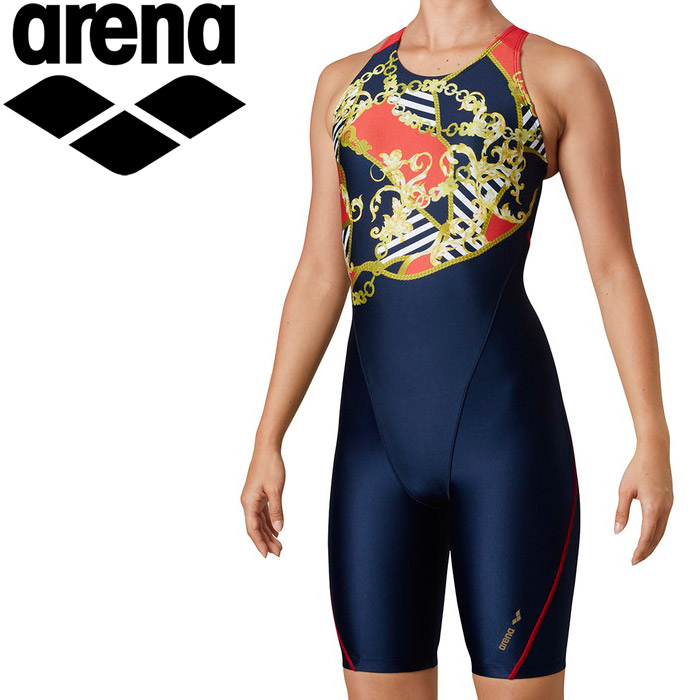 アリーナ 水泳 サークルバックスパッツ(ぴったりパッド)(着やストラップ) レディス LAR-0211W-NVY