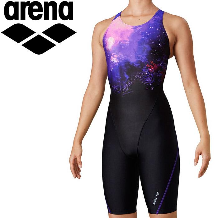 アリーナ 水泳 トライアングルバックスパッツ(ひっかけフィットパッド) レディス LAR-0214W-PPL