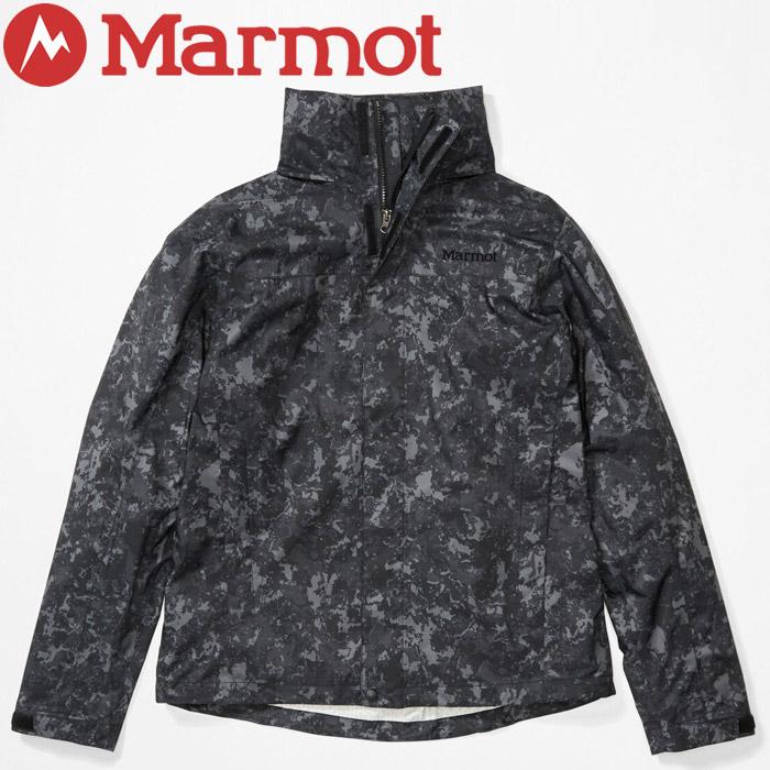 マーモット アウトドア PreCipR Eco Print Jacket / プレシップエコプリントジャケット メンズ TOMPGK4114-8983