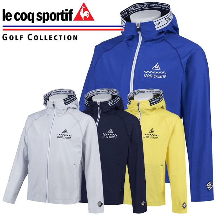 ルコックゴルフ ゴルフウェア メッシュエンボスライトパーカー メンズ QGMPJL51