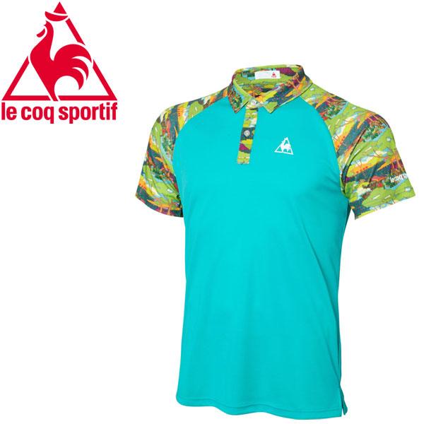 【2枚までメール便対応】ルコック テニス メンズ リバティー半袖ポロシャツ QTMLJA41-CRG 18SS【規定の数量以上から宅配便で発送(送料加算)】