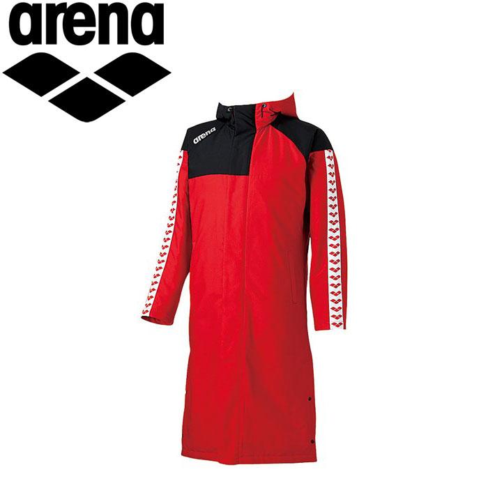 アリーナ ダウンコート ロングコート ベンチコート メンズ ARN6330-RED