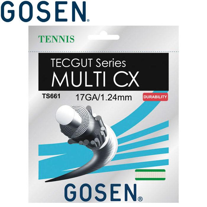 ゴーセン 硬式テニスストリングス ガット テックガット マルチCX17ロール TS6612NA-NA