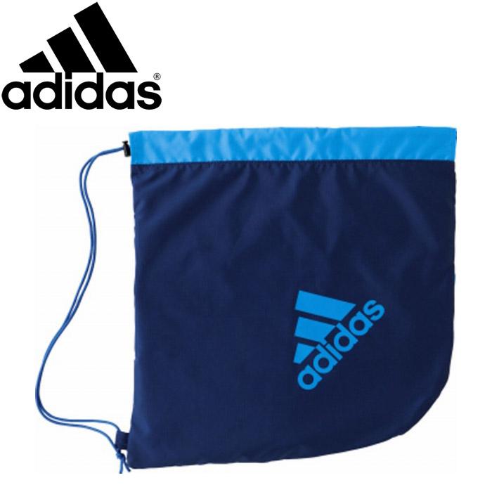 メール便送料無料 アディダス サッカー ボールバッグ AKM18NVB 買物 1個入れ 紺×青 供え