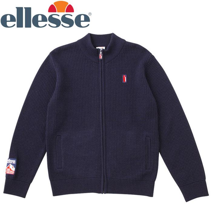エレッセ エンブレムニットジャケット メンズ レディース EH78301-NY