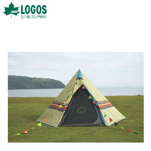 【ポイントアップ祭!】LOGOS ロゴス Tepee ナバホ400セット テント・マット・グランドシート・フラッグの4点セット 71809510