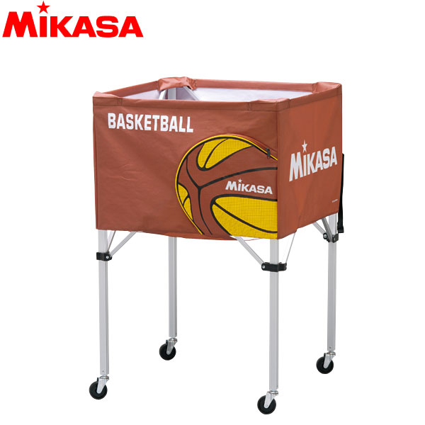 ミカサ MIKASA ボールカゴ 箱型 大 バスケット BC-SP-H-BB アルミ軽量 バスケットボール15~20個