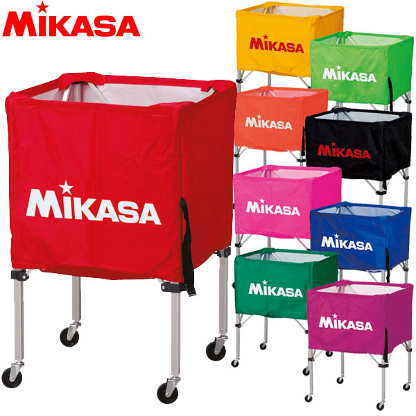 ミカサ MIKASA ボールカゴ 箱型 BC-SP-SS フレーム・幕体・キャリーケース 3点セット バレー サッカー バスケ ハンド