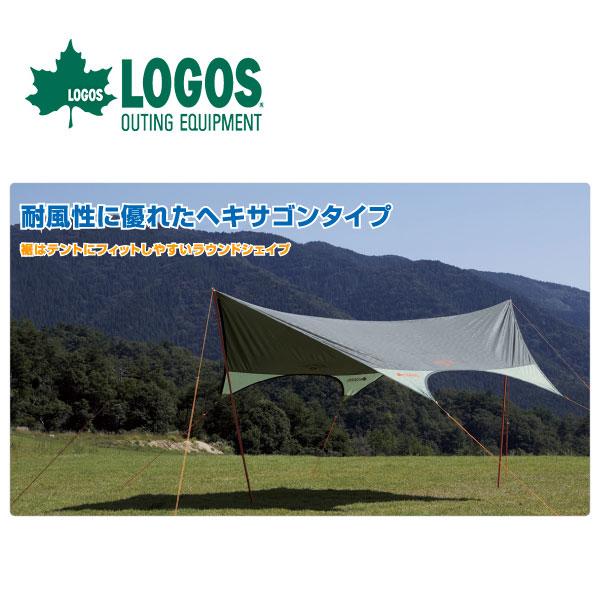 【ポイントアップ祭!】LOGOS ロゴス neos ドームFITヘキサ 4443-Nタープ テント 71808012