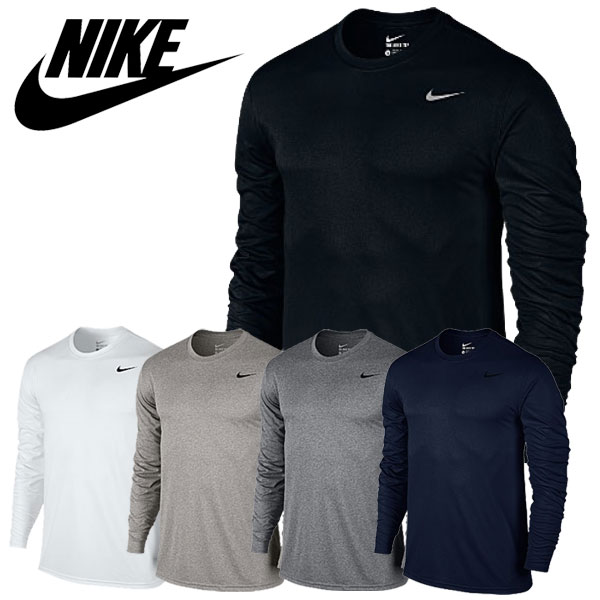 a9bdebeb4141 ☆It is arrival at ☆ Nike long sleeves sweat shirt men gym training fitness  exercise sportswear running DRI-FIT legend L S T-shirt NIKE 718838 to two  ...