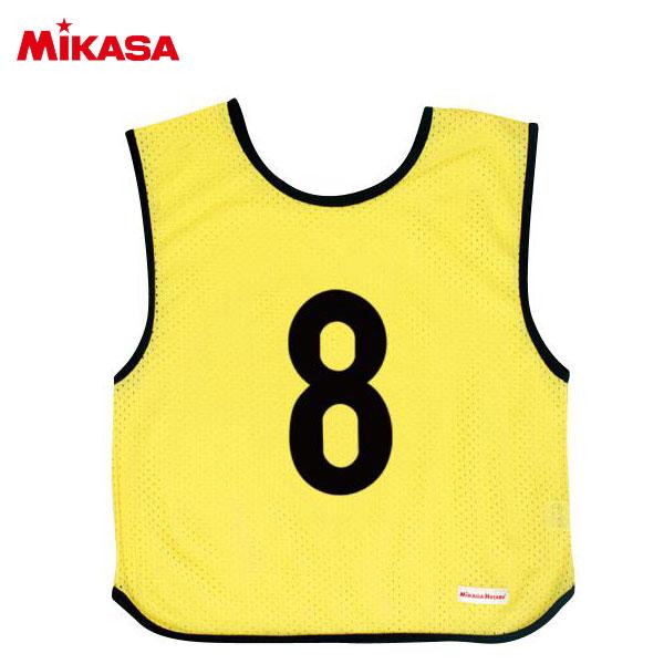ミカサ ゲームジャケット ジュニア 10枚組 蛍光イエロー GJJ210-KY