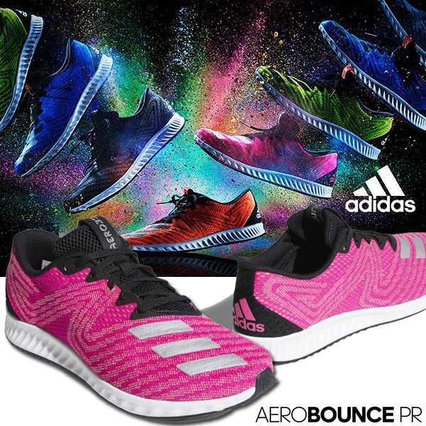 on sale fa4d3 1c9e4 Adidas Aero BOUNCE PR WIDE running shoes men gap Dis 18SS AQM40 AC8393