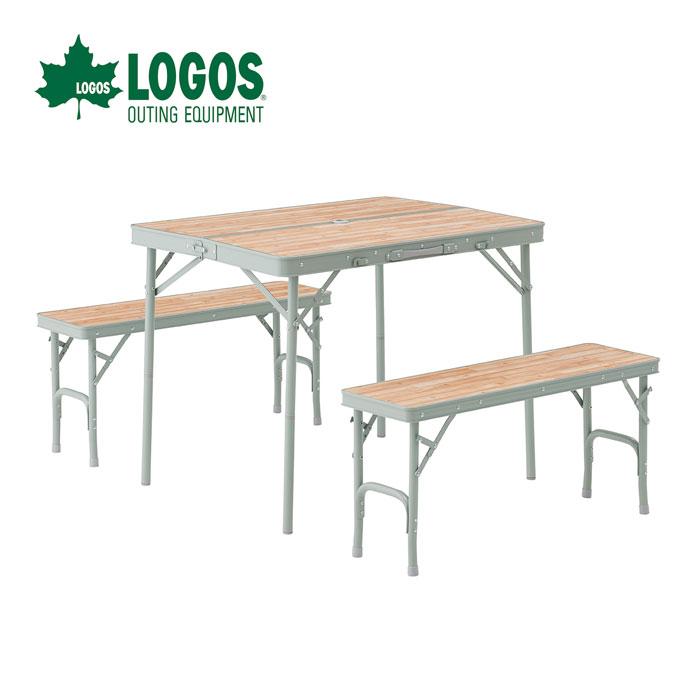 【ポイントアップ祭!】LOGOS ロゴス LOGOS Life ベンチテーブルセット4 73183013