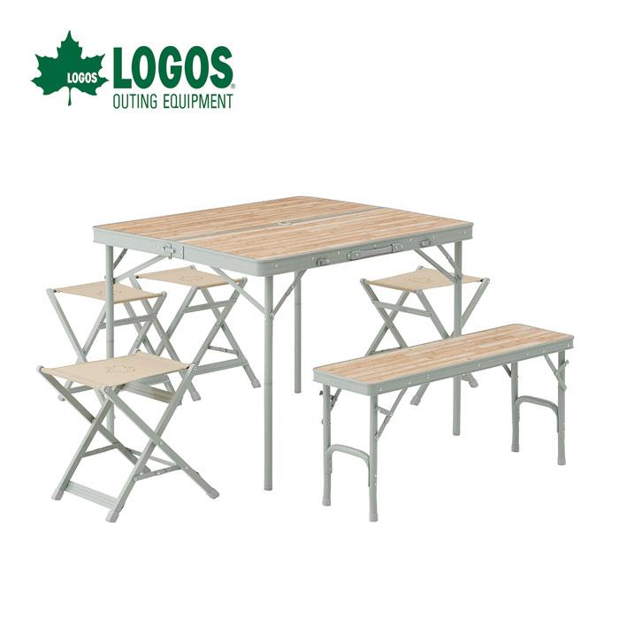 【ポイントアップ祭!】LOGOS ロゴス LOGOS Life ベンチテーブルセット6 73183014