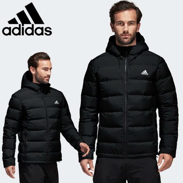 Distribución varonil Cromático  FZONE: Adidas down jacket men HELIONIC HOODED JACKET DKQ89-BQ2001 ...