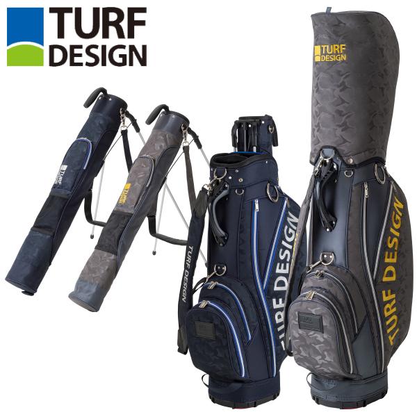 ターフデザイン ゴルフ ツインバッグ ミニスタンド付きキャディバッグ TDCB-1874