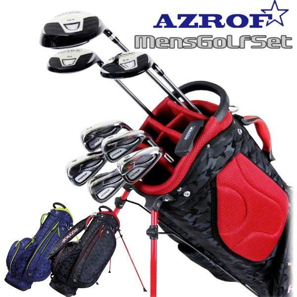 アズロフ AZROF メンズ ゴルフクラブセット 9本+キャディバッグ