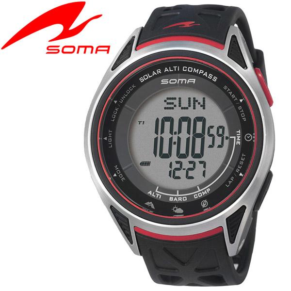 ソーマ SOMA アウトドアウオッチ Ride ONE SOLAR ALTI COMPASS NS24001
