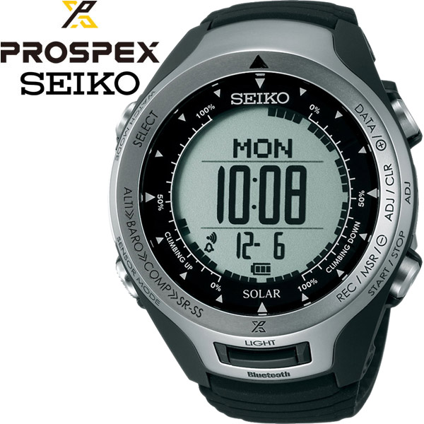 プロスペック アルピニスト ブルートゥース 登山用ソーラーデジタルウオッチ 腕時計 SEIKO PROSPEX SBEL001