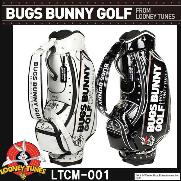 【24時間限定ポイント10倍! 11/5 0:00~23:59迄】ルーニーテューンズ バッグスバニー ゴルフ キャディバッグ 9型 LTCM-001 LOONEY TUNES BUGS BUNNY STAR