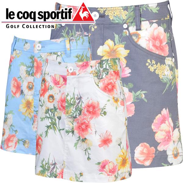 ルコックゴルフ ゴルフウェア レディース インナーキュロット付きスカート QGWLJE03 2018春夏