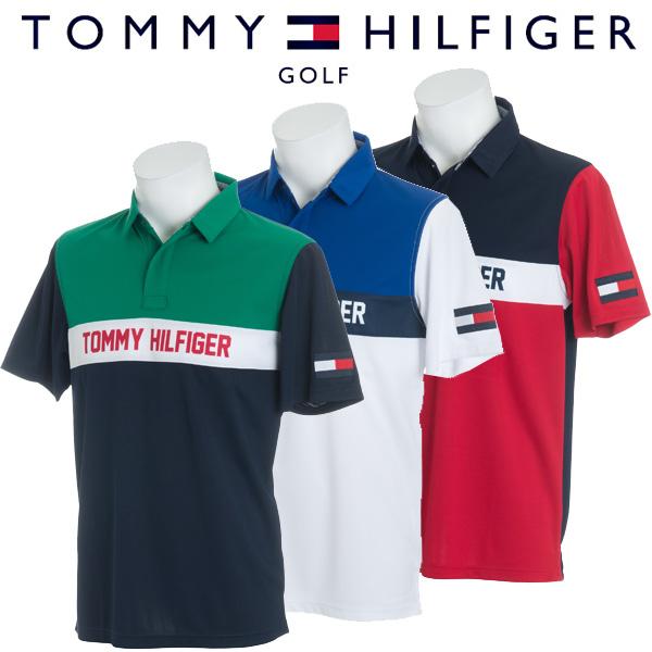 トミーヒルフィガー ゴルフウェア メンズ 半袖ポロシャツ THMA843 2018春夏