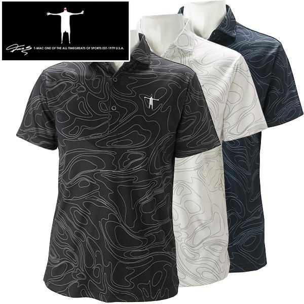 ティーマック メンズ ゴルフウエア 半袖ポロシャツ P10 T-MAC 2018春夏