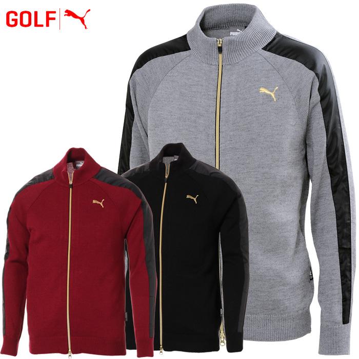 プーマ ゴルフウェア メンズ TB FZ ウィンド ブロック セーター 923757 2018秋冬
