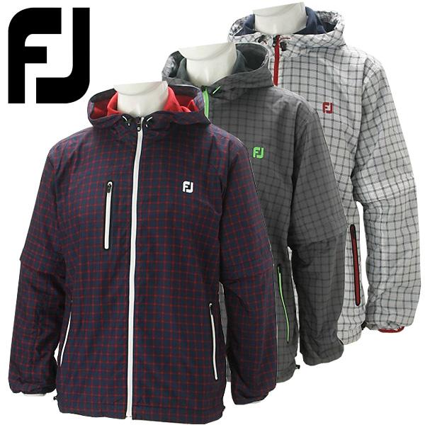 フットジョイ ゴルフウェア メンズ ラインフードジャケット 長袖 FJ-F16-O51 2016秋冬