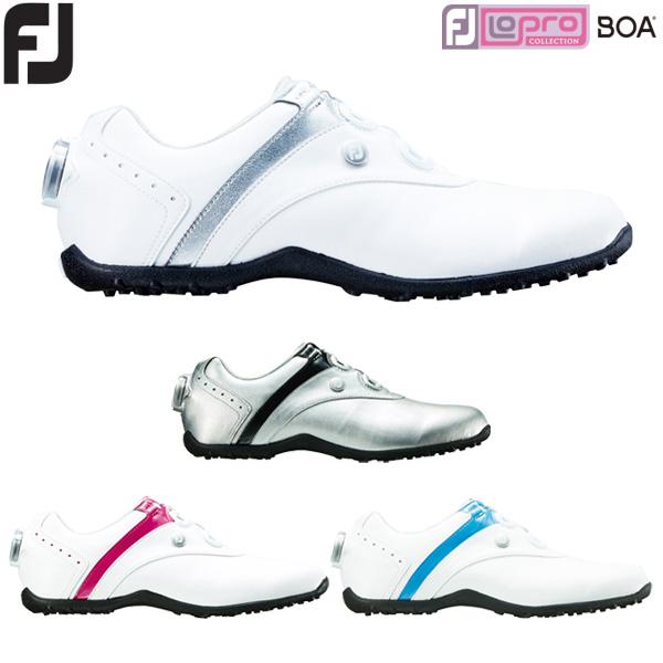 フットジョイ ゴルフ レディース ゴルフシューズ ロープロ スパイクレス ボア LoPro Spikeless Boa 2018年モデル