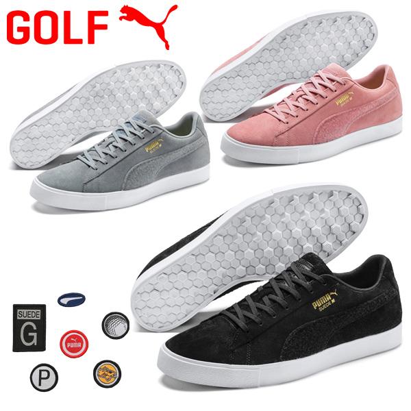 【数量限定モデル】プーマ ゴルフシューズ メンズ ゴルフ スウェードGパッチLE 192530 2019モデル スパイクレス