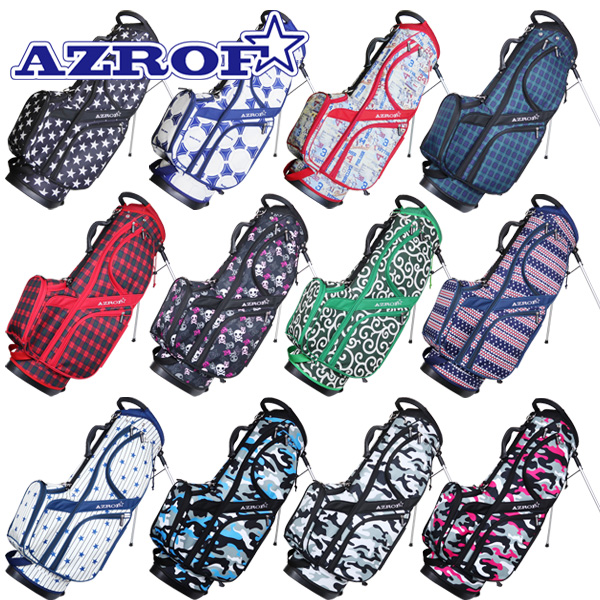 期間限定で特別価格 アズロフ 値下げ ゴルフ スタンドキャディバッグ カラーNo.143-176 AZ-STCB01 地域限定送料無料 9インチスタンドバッグ