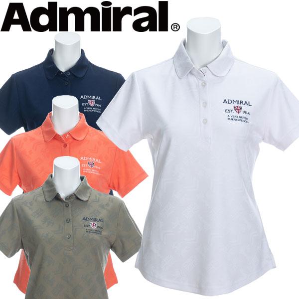 アドミラル ゴルフウェア レディース ブリッツジャガード ラウンドカラーシャツ 半袖 ADLA021 2020春夏