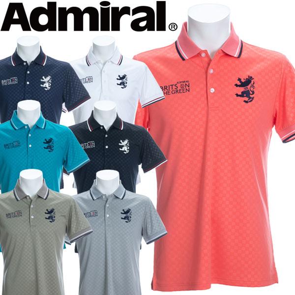 アドミラル ゴルフウェア メンズ チェックエンボス ポロシャツ 半袖 ADMA019 2020春夏
