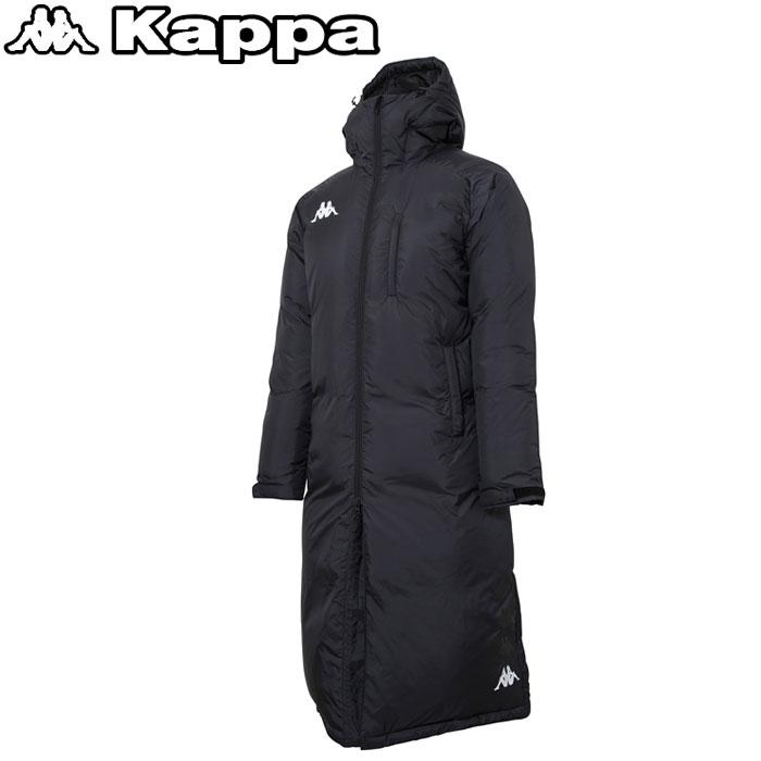 カッパ ウォーマーロングダウンジャケット メンズ kappa KF852OT11-BK
