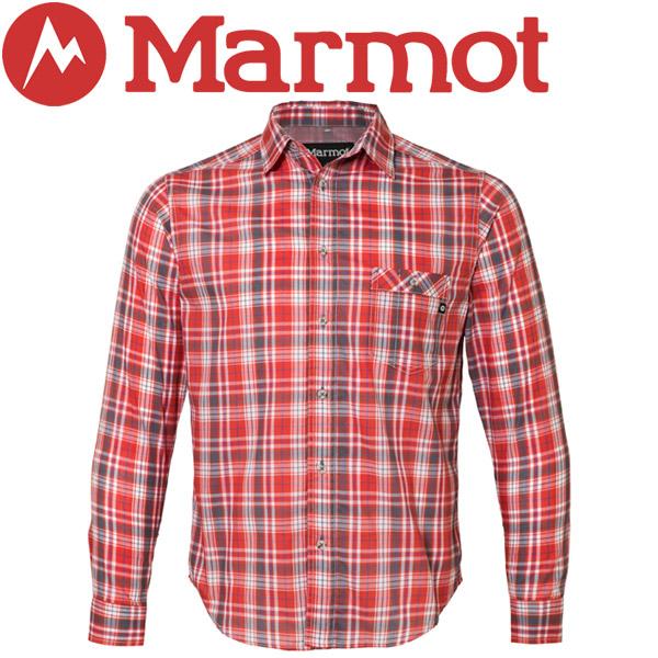 【2枚までメール便対応】マーモット QD Tartan Check L/S Shirt シャツ メンズ TOMLJB75-RED【規定の数量以上から宅配便で発送(送料加算)】