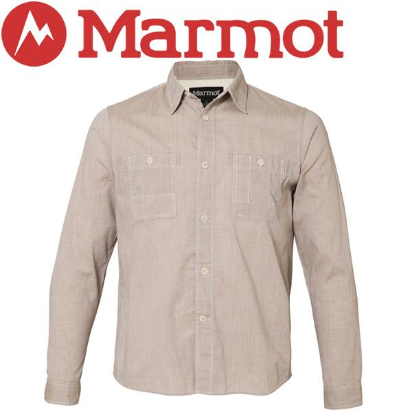 【2枚までメール便対応】マーモット T/C Dungaree L/S Shirt シャツ メンズ TOMLJB77-BGE【規定の数量以上から宅配便で発送(送料加算)】