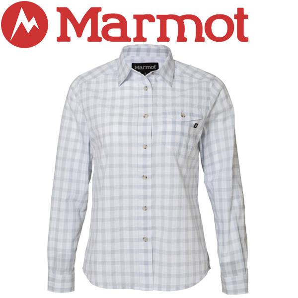 【2枚までメール便対応】マーモット Ws QD Block Check L/S Shirt シャツ レディース TOWLJB76-WHT【規定の数量以上から宅配便で発送(送料加算)】