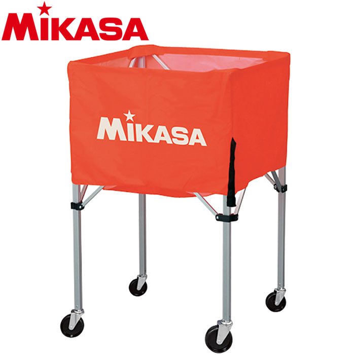 ミカサ ボールカゴ 箱型 中 オレンジ BC-SP-S-O 9068017