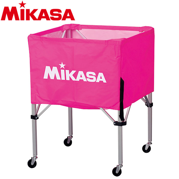 ミカサ ボールカゴ 箱型 小 ピンク BC-SP-SS-P 9068026