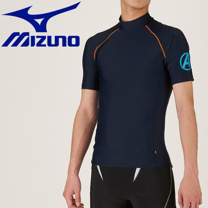 ミズノ 水泳 Disney ラッシュガード 半袖 メンズ N2JC967014