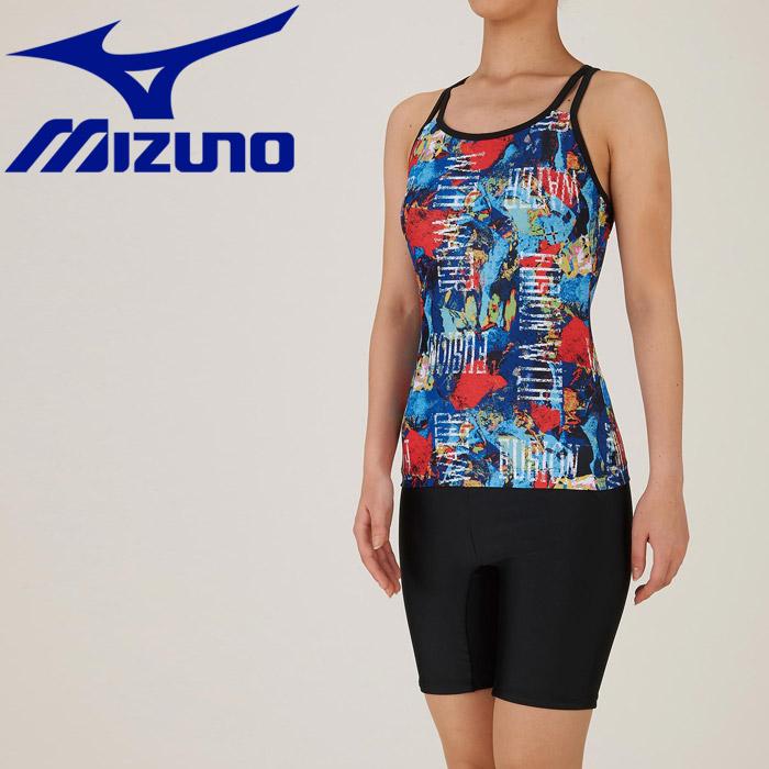 ミズノ 水泳 セパレーツ 3.5分丈 フィットネス 水着 レディース N2JG984814