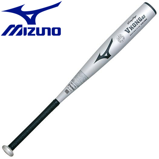 ミズノ 野球 少年硬式用 ビクトリーステージ Vコング02 金属製 76cm 平均680g バット 2TL7156003N