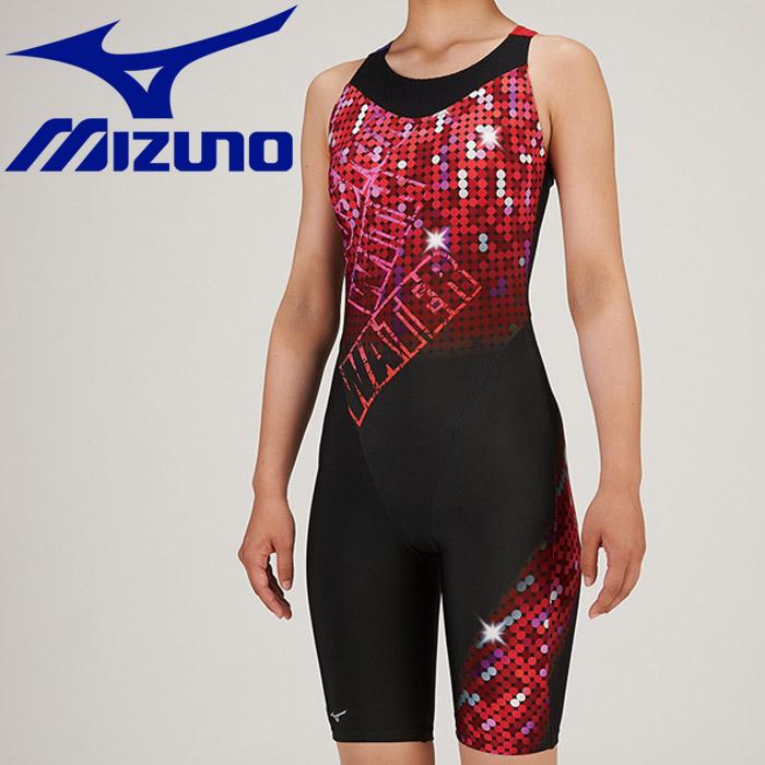 ミズノ 水泳 スイム アクアフィットネス用 オールインワン ピースバック 水着 レディース N2JG930796 《返品不可》